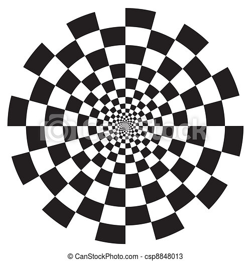 Checkerboard Spiral Design Pattern - csp8848013