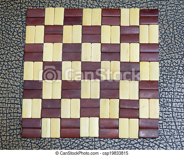 Checkerboard wooden pattern with brown - csp19833815