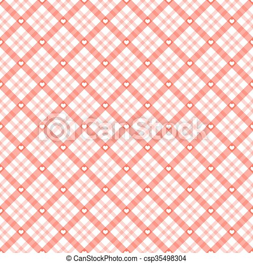checkered background with hearts. red checkered table cloth