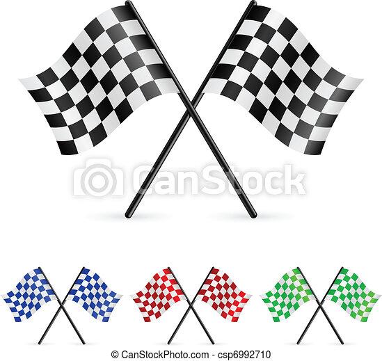 checkered, bandeiras - csp6992710