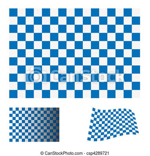 checkered blue flag - csp4289721