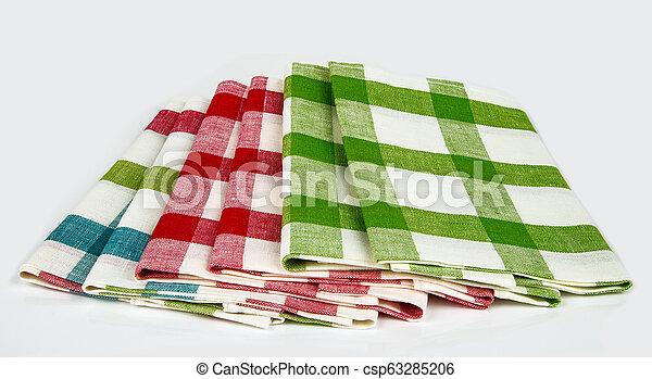Checkered Dishcloth - csp63285206