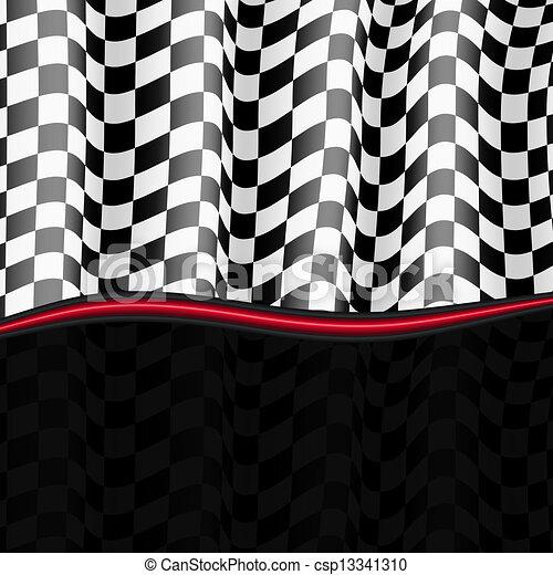 checkered, eps10, flag., arrière-plan., vecteur, courses - csp13341310
