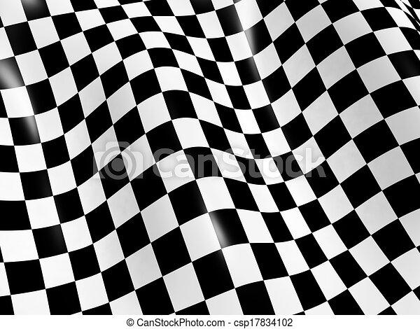 Checkered flag - csp17834102