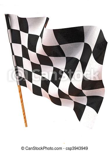 Checkered flag - csp3943949