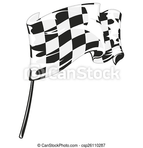 checkered flag racing stock vector illustration clip art vector rh canstockphoto com checkered racing flag clipart checker flag clip art