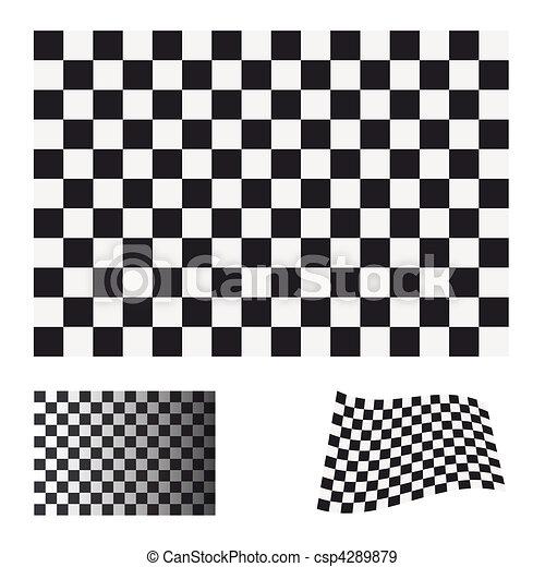 checkered flag set - csp4289879