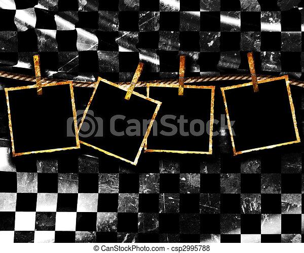 Checkered flag - csp2995788