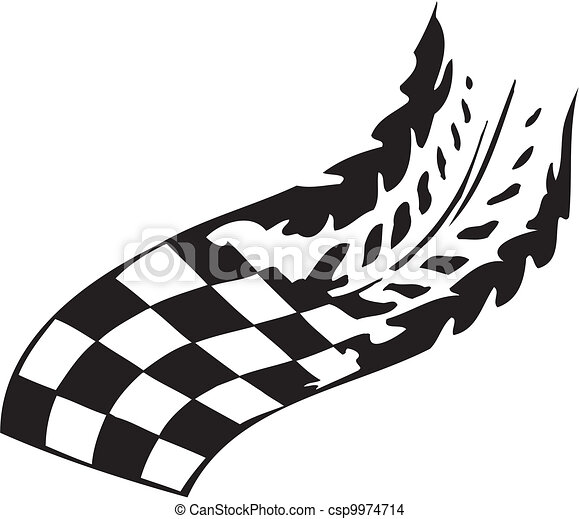 checkered flag symbol racing racing emblem black and white rh canstockphoto com racing flag vector free racing flag vector png