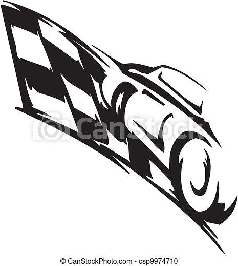 Checkered flag - symbol racing - csp9974710