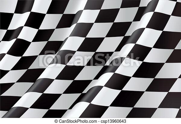 Checkered Flag, vector background - csp13960643
