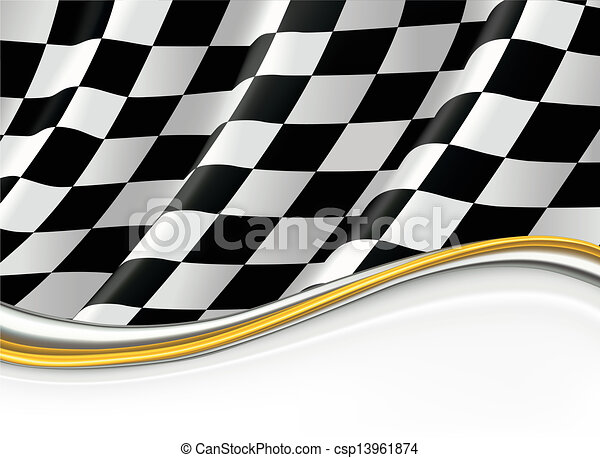Checkered Flag, vector background - csp13961874