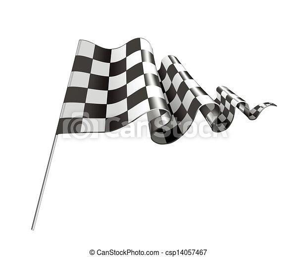 Checkered Flag, Vector - csp14057467