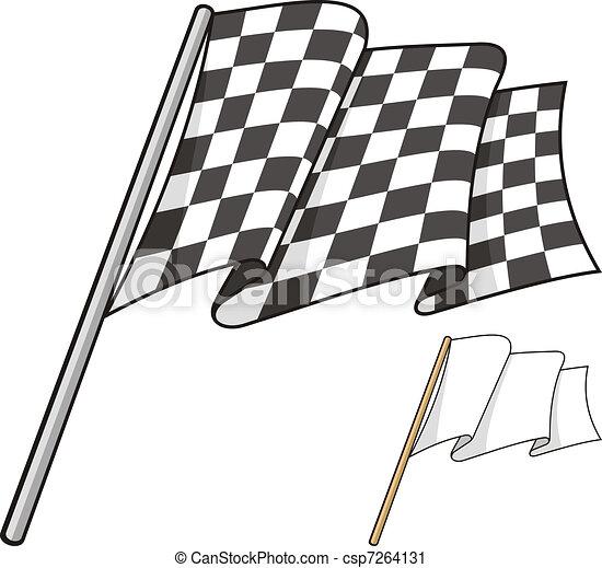 Checkered flag - csp7264131