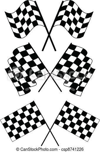Checkered flags - csp8741226