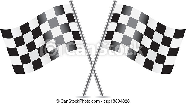 Checkered Flags (racing flags). - csp18804828