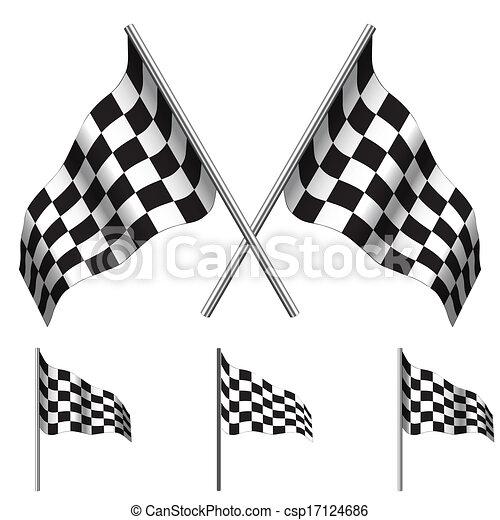 Checkered Flags (racing). Vector - csp17124686