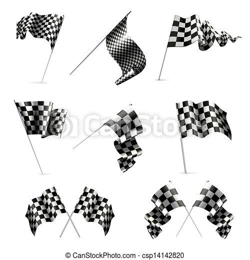 Checkered Flags set - csp14142820
