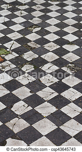 Checkered Floor Texture Background Vertical Vintage Black And