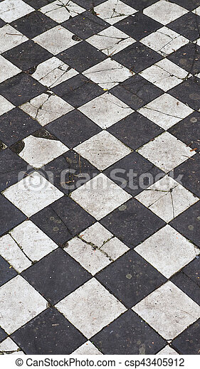 Checkered Floor Texture Vertical Vintage Black And White