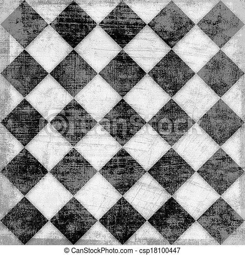 checkered, grunge, fondo - csp18100447