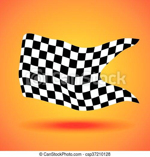 checkered, ilustração, bandeira, vetorial, fundo, correndo - csp37210128