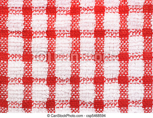 red and white checkered pattern texture of table cloth for stock