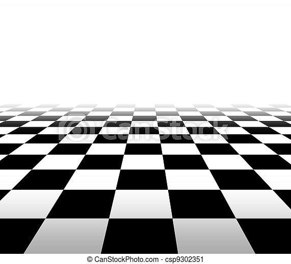checkered, perspectief, achtergrond - csp9302351