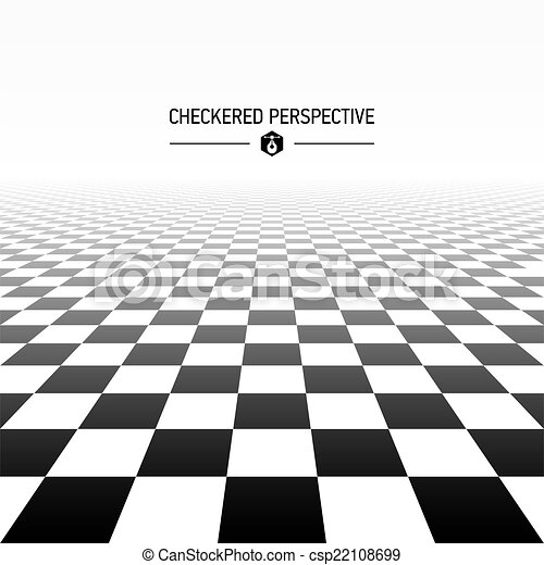 checkered, perspective, fond - csp22108699
