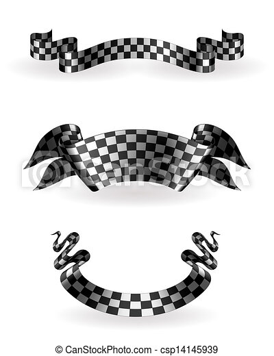Checkered Ribbons Set 10eps