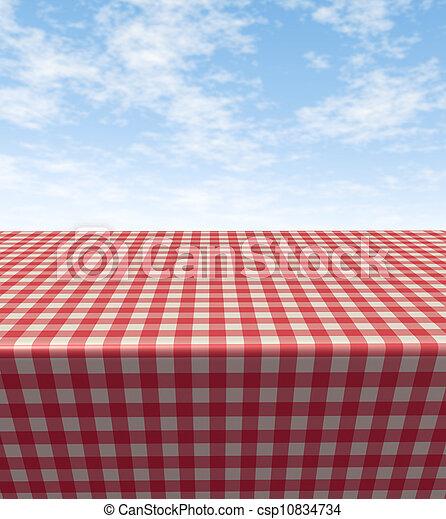 checkered, tablecloth-table - csp10834734