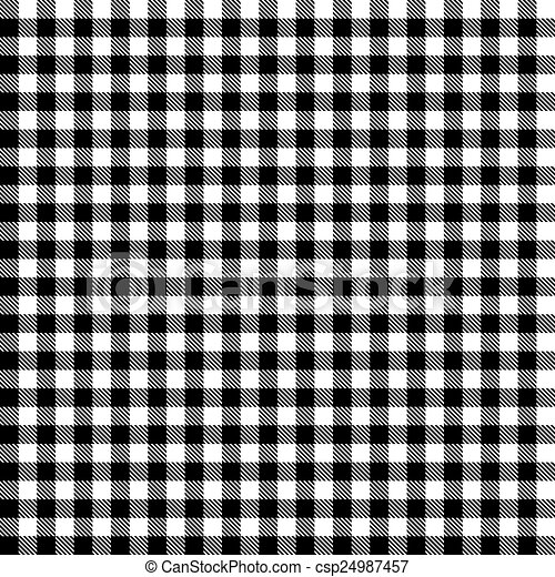 Checkered Tablecloths Pattern   Endless   Black   Csp24987457