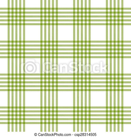 Checkered tablecloths pattern green - endless - csp28314505