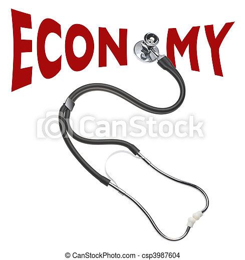 Checking health of the economy - csp3987604