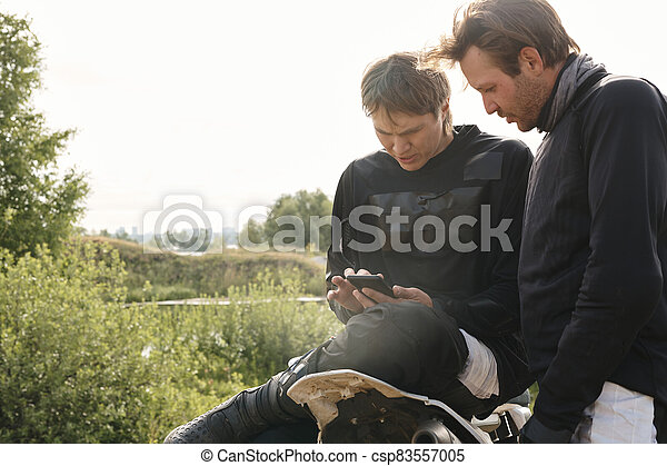 Checking location via smartphone app - csp83557005