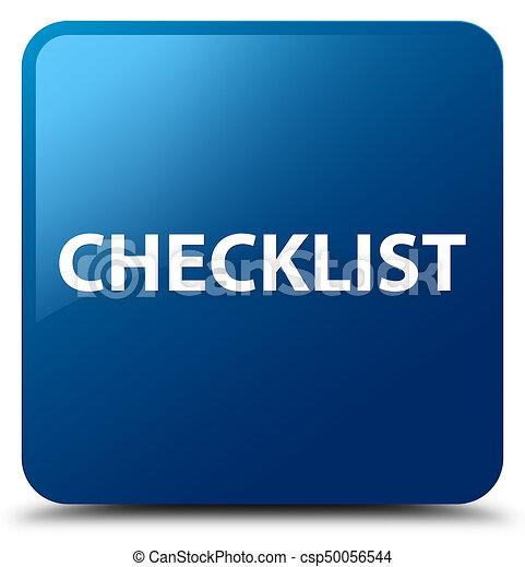 Checklist blue square button - csp50056544