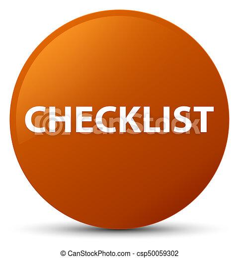 Checklist brown round button - csp50059302