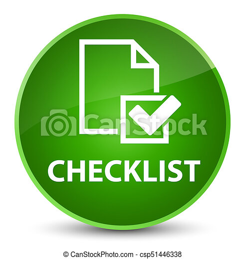 Checklist elegant green round button - csp51446338
