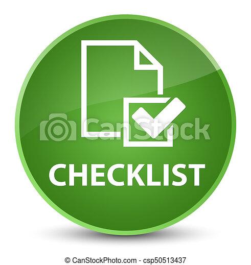 Checklist elegant soft green round button - csp50513437