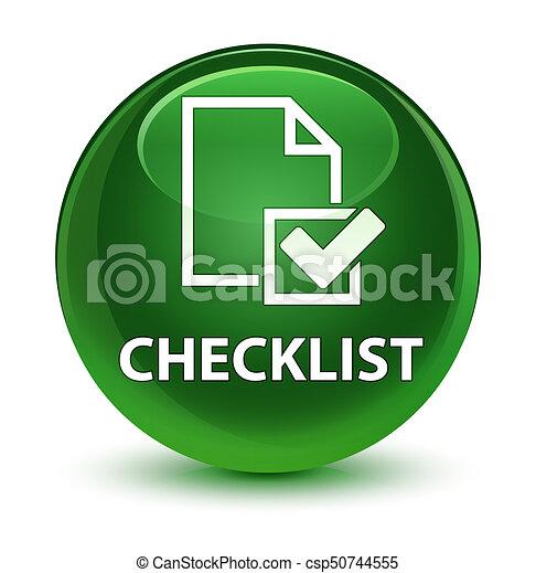 Checklist glassy soft green round button - csp50744555