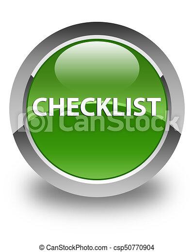 Checklist glossy soft green round button - csp50770904