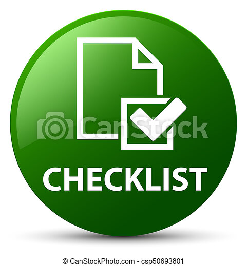 Checklist green round button - csp50693801