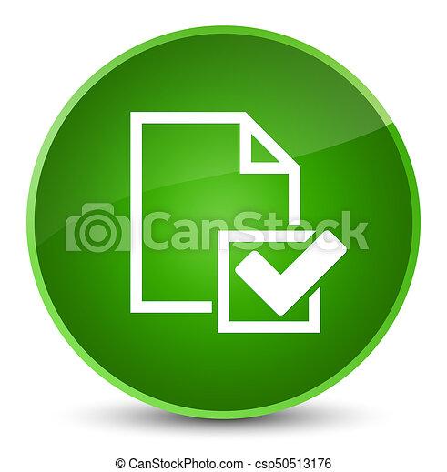 Checklist icon elegant green round button - csp50513176