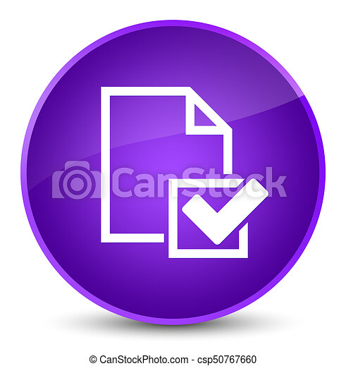 Checklist icon elegant purple round button - csp50767660
