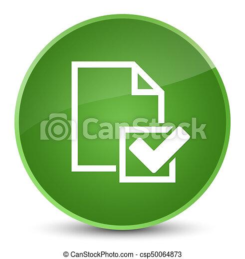 Checklist icon elegant soft green round button - csp50064873