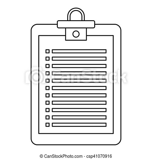 Checklist icon, outline style - csp41070916