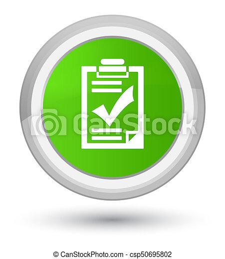 Checklist icon prime soft green round button - csp50695802