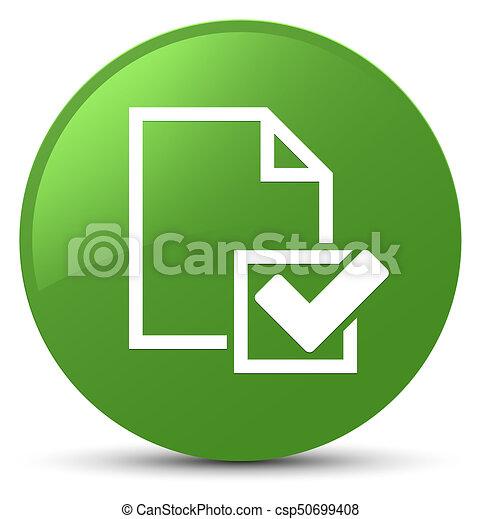 Checklist icon soft green round button - csp50699408