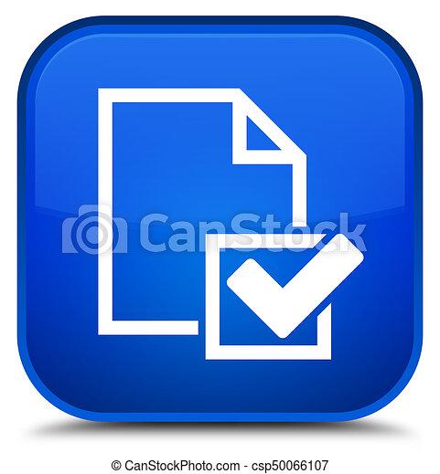 Checklist icon special blue square button - csp50066107