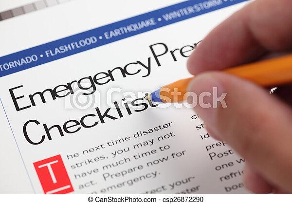 checklist, nødsituation - csp26872290